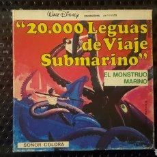 Cine: SUPER 8 - 20.000 LEGUAS DE VIAJE SUBMARINO - EL MONSTRUO MARINO - WALT DISNEY. Lote 112891990