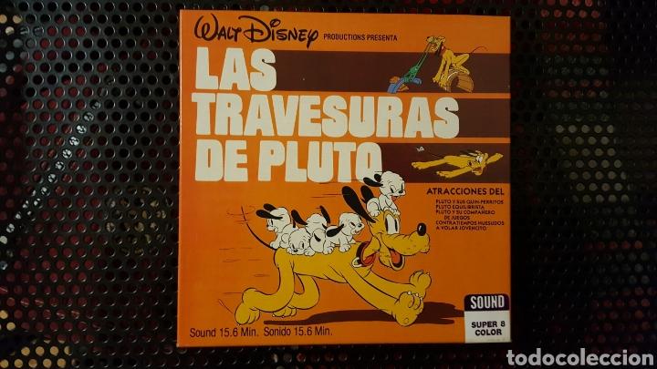 SUPER 8 - LAS TRAVESURAS DE PLUTO - BOBINA DE 120 - WALT DISNEY - SONORA CASTELLANO (Cine - Películas - Super 8 mm)