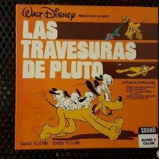Cine: SUPER 8 - LAS TRAVESURAS DE PLUTO - BOBINA DE 120 - WALT DISNEY - SONORA CASTELLANO. Lote 113203132