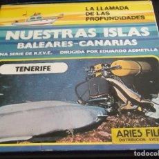 Cine: LA LLAMADA DE LAS PROFUNDIDADES-SERIA DE RTVE-NUESTRAS ISLAS-TENERIFE. Lote 113572627