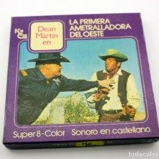 Cine: LA PRIMERA AMETRALLADORA DEL OESTE - PELICULA SUPER 8 COLOR - SONIDO EN ESPAÑOL - DEAN MARTIN. Lote 115317011