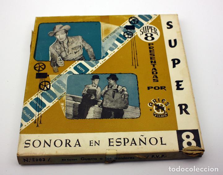 Cine: GUERRA A LOS TRAIDORES - KIT CARSON - PELICULA SUPER 8 COLOR - SONIDO EN ESPAÑOL - Foto 2 - 115318267