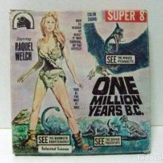Cine: ONE MILLION YEARS B.C. - KEN FILMS SUPER 8 COLOR SOUND F24 - RAQUEL WELCH CINE PELÍCULA DINOSAURIOS. Lote 116475399
