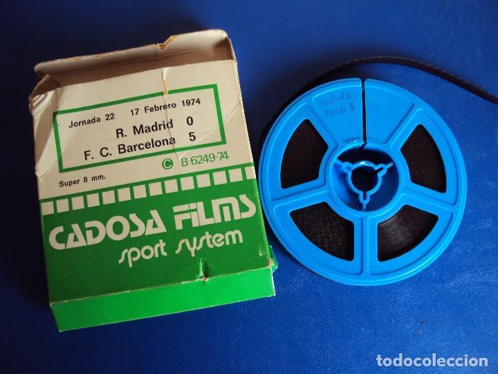 (F-180456)PELICULA SUPER 8 PARTIDO FUTBOL R. MADRID F.C BARCELONA O - 5 JORNADA 22 17 FEBRERO 1974 (Cine - Películas - Super 8 mm)