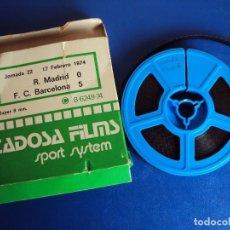 Cine: (F-180456)PELICULA SUPER 8 PARTIDO FUTBOL R. MADRID F.C BARCELONA O - 5 JORNADA 22 17 FEBRERO 1974. Lote 118814099