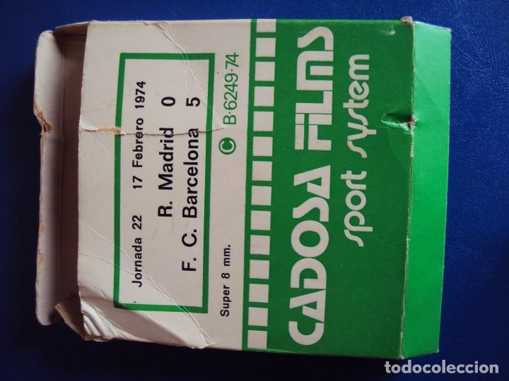 Cine: (F-180456)PELICULA SUPER 8 PARTIDO FUTBOL R. MADRID F.C BARCELONA O - 5 JORNADA 22 17 FEBRERO 1974 - Foto 2 - 118814099