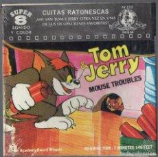 Cine: SUPER 8 ++TOM Y JERRY. CUITAS RATONESCAS +A+ 60 METROS. Lote 261630510