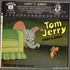 Cine: SUPER 8 ++TOM Y JERRY. JERRY Y JUMBO ++ 60 METROS. Lote 119361359