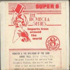 Cine: SUPER 8 ++ TRAILERS MONSTER & THE APE / ROAR OF THE IRON HORSE ++ DERANN. Lote 119498059