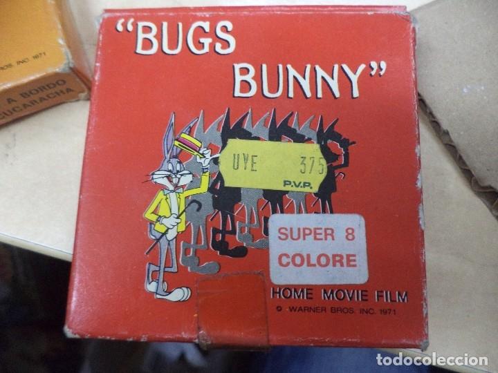 Cine: Lote colección de 14 películas Super 8 principio años 70.Dibujos Supermán,Tarzán,Bugs Bunny...... - Foto 3 - 121325223
