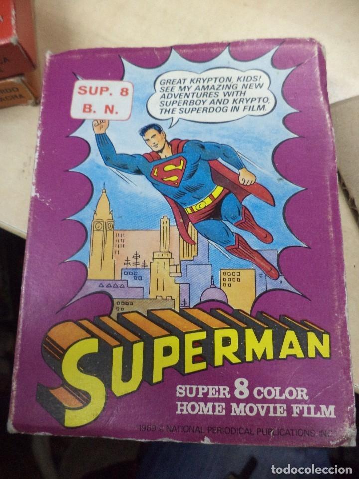 Cine: Lote colección de 14 películas Super 8 principio años 70.Dibujos Supermán,Tarzán,Bugs Bunny...... - Foto 4 - 121325223