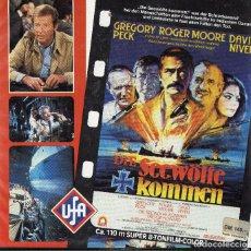 Cine: SUPER 8 ++ LOBOS MARINOS ++ 4X120M CON ROGER MOORE, GREGORY PECK Y DAVID NIVEN. CASTELLANO. Lote 121566287