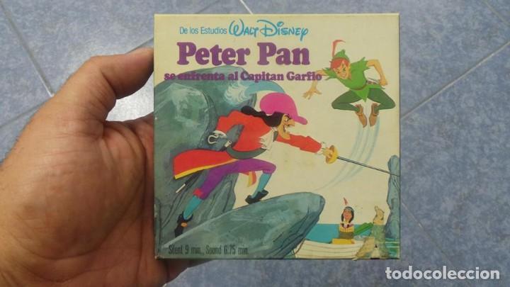 PETER PAN SE ENFRENTA AL CAPITAN GARFIO PELÍCULA-SUPER 8 MM-WALT DISNEY RETRO VINTAGE FILM (Cine - Películas - Super 8 mm)