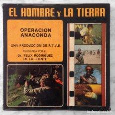 Cine: EL HOMBRE Y LA TIERRA - OPERACION ANACONDA - FELIX RODRIGUEZ DE LA FUENTE - SUPER 8 COLOR SONORO . Lote 129691975