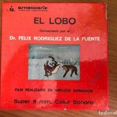 Cine: PELÍCULA DE DIBUJOS ANIMADOS EL LOBO , COMENTADO POR FELIX RODRÍGUEZ DE LA FUENTE. ARMENDARIZ. Lote 132102954
