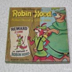 Cine: PELICULA SUPER 8 MM SONORA: ROBIN HOOD Y LITTLE JOHN - WALT DISNEY PRODUCTIONS. Lote 132243734