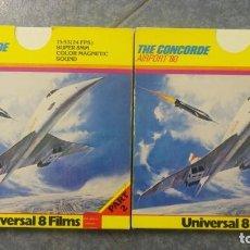 Cine: THE CONCORDE- AIRPORT 80 ,PELÍCULA SUPER 8 MM-RETRO-VINTAGE FILM. Lote 133512062