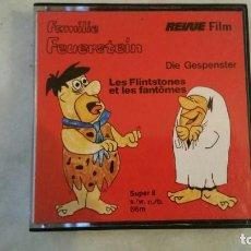 Cine: PELICULA SUPER 8 LOS PICAPIEDRA LES FLINTSTONES ET LES FANTOMES - 66 M REVUE-FILM. Lote 136624918