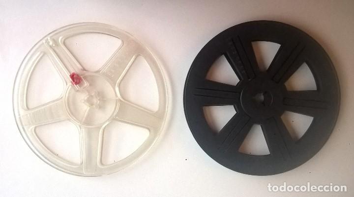 DOS BOBINAS ANTIGUAS PARA PELÍCULAS Y PROYECTOR SUPER 8 MM (VACÍAS) - CAPACIDAD 120 METROS (Cine - Películas - Super 8 mm)