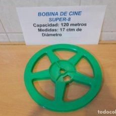 Cine: BOBINA VACIA DE 120 METROS PARA PROYECTORES Y PELICULAS DE CINE SUPER8. Lote 144566902