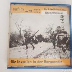 Cine: ANTIGUO DOCUMENTAL SUPER 8MM DE LA INVASIÓN DE NORMANDÍA - ALEMANA - MUY RARA. Lote 140706506