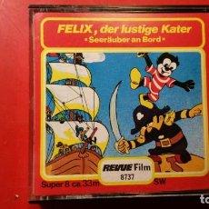 Cine: PELICULA SUPER 8 S.W. FELIX DER LUSTIGE KATER - 33 M REVUE FILM. Lote 141687206