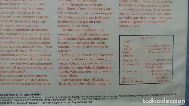 Cine: LA ROSA(THE ROSE) REDUCCIÓN PELÍCULA SUPER 8 MM VINTAGE FILM, 1 X120 MTS - Foto 110 - 145151566