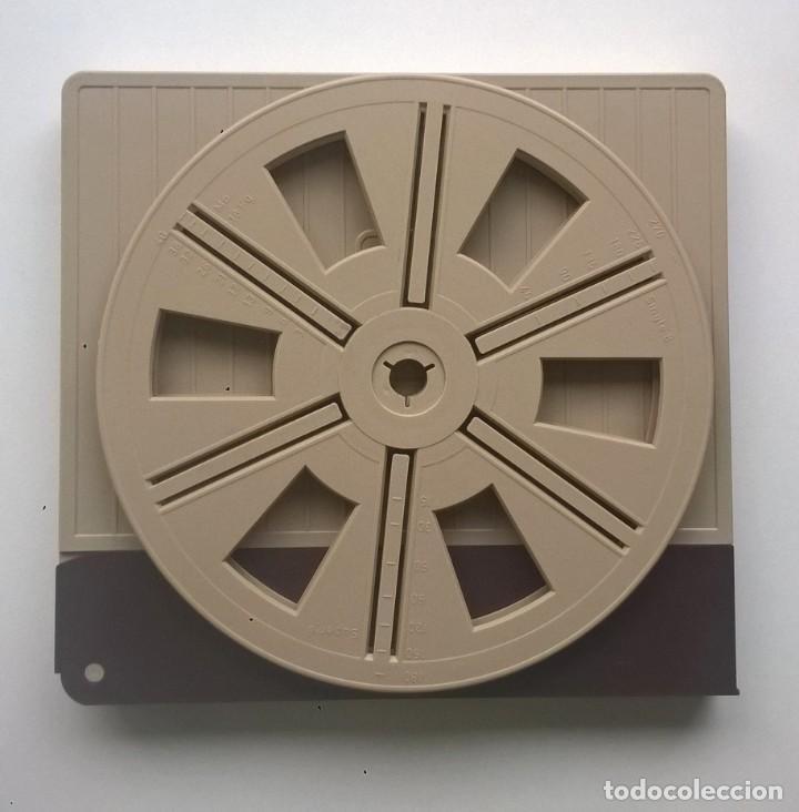 Cine: BOBINA Y CAJA VINTAGE PARA PELÍCULA Y PROYECTOR SUPER 8 MM - CAPACIDAD 180 METROS - AÑO 1975 - Foto 4 - 145454906