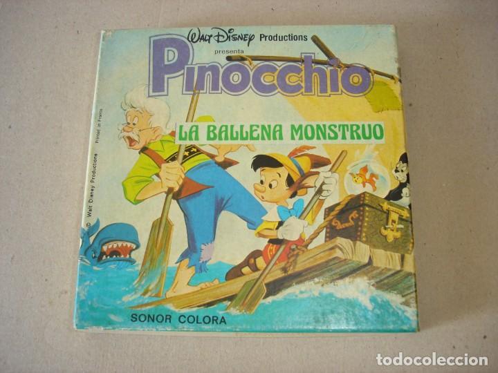 PELICULA SUPER 8 MM SONORA: PINOCCHIO (PINOCHO) LA BALLENA MONSTRUO - WALT DISNEY PRODUCTIONS (Cine - Películas - Super 8 mm)