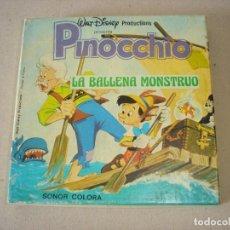Cine: PELICULA SUPER 8 MM SONORA: PINOCCHIO (PINOCHO) LA BALLENA MONSTRUO - WALT DISNEY PRODUCTIONS. Lote 146233882
