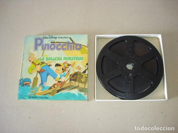 Cine: PELICULA SUPER 8 MM SONORA: PINOCCHIO (PINOCHO) LA BALLENA MONSTRUO - WALT DISNEY PRODUCTIONS - Foto 2 - 146233882
