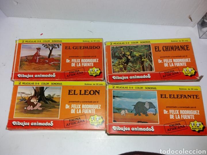 LOTE DE 4 PACKS DE 8 PELICULAS DE SUPER 8 SONORAS ANIMADOS FELIX RODRIGUEZ DE LA FUENTE BIANCHI (Cine - Películas - Super 8 mm)