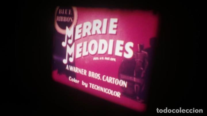 Cine: TRES CORTOS DIBUJOS ANIMADOS, CALIMERO, MERRIE MELODIES SUPER 8 MM VINTAGE FILM - Foto 2 - 149692574