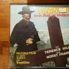 Cine: PELICULA SUPER 8 B/N 120 M - DJANGO - PICCOLO FILM. Lote 151010442