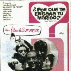 Cine: PORQUE TE ENGAÑA TU MARIDO . SUMMERS - LARGOMETRAJE. Lote 152211534