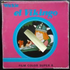Cine: CINE PELICULA RETRO VINTAGE SUPER 8 MM DIBUJOS ANIMADOS TVE VICKIE EL VIKINGO FLAKE EGB NIÑOS . Lote 153476426