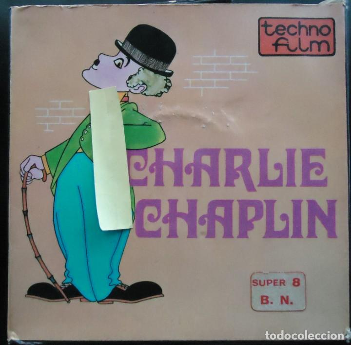 CINE PELICULA RETRO VINTAGE SUPER 8 MM DIBUJOS ANIMADOS CHARLIE CHAPLIN CHARLOT CINE MUDO HUMOR TVE (Cine - Películas - Super 8 mm)