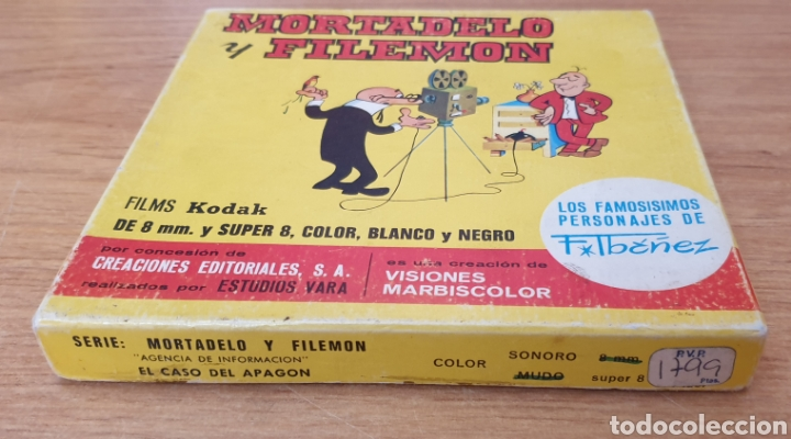 Cine: MORTADELO Y FILEMON - El Caso del Apagon / Super 8 / Años 70 - Foto 2 - 61399267