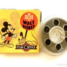 Cine: PELICULA 8 MM PARA PROYECTOR SUPER 8 MICKEY Y PLUTO WALT DISNEY. FILM OFFICE PARIS FRANCIA. Lote 226143565