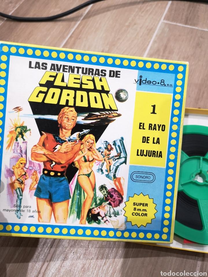 Cine: LAS AVENTURAS DE FLESH GORDON, NÚMERO 1, EL RAYO DE LUJURIA, SUPER 8, SONORO, ÚNICO. - Foto 2 - 156277180