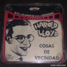 Cine: SUPER 8 ++ HAROLD LLOYD. COSAS DE LA VECINDAD ++ 90 METROS. Lote 156736630