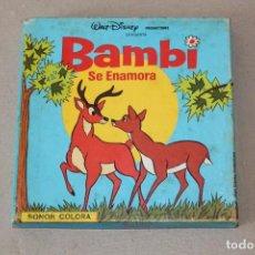 Cine: PELICULA SUPER 8 MM SONORA: BAMBI SE ENAMORA - WALT DISNEY PRODUCTIONS. Lote 158589922
