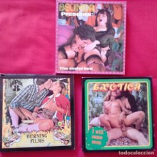 Cine: EXOTICA I WILL COME SOON, BURNING FILMS, THE SINFUL BED. 60 M SUPER 8 MM. Lote 159733382