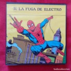 Cine: LA FUGA DE ELECTRO SPIDERMAN EL HOMBRE ARAÑA PELICULA SUPER 8 COLOR SONORO ESPAÑOL REF 701 ARGENFOT. Lote 159740006