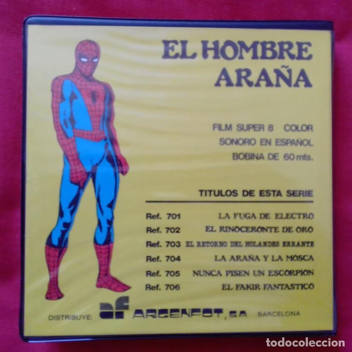 Cine: LA FUGA DE ELECTRO SPIDERMAN EL HOMBRE ARAÑA PELICULA SUPER 8 COLOR SONORO ESPAÑOL REF 701 ARGENFOT - Foto 2 - 159740006