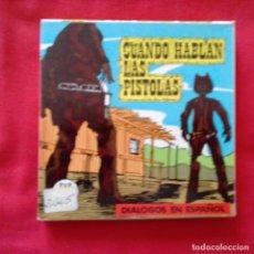 Cine: CUANDO HABLAN LAS PISTOLAS. ESPAÑOL SUPER 8 MM COLOR SONORO. Lote 159741374