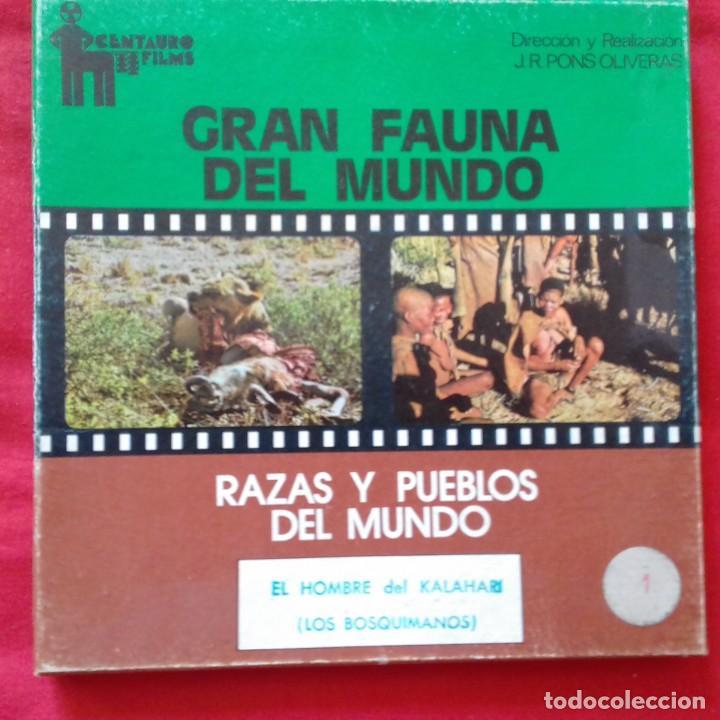 PELICULA COLOR SUPER 8. EL HOMBRE DEL KALAHARI. LOS BOSQUIMANOS. CENTAURO FILMS. (Cine - Películas - Super 8 mm)
