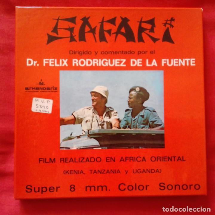 SAFARI. DR, FÉLIX RODRIGUES DE LA FUENTE. SUPER 8 COLOR SONORO ESPAÑOL PRODUCCIONES ARMENDARIZ (Cine - Películas - Super 8 mm)