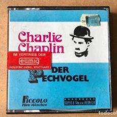 Cine: CHARLIE CHAPLIN DER PECHVOGEL SUPER 8MM 17 METROS - NUEVA. Lote 161845018