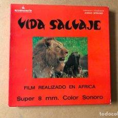 Cine: PELICULA DE CINE SUPER 8 SONORO, BOBINA 180 MTS. VIDA SALVAJE EN AFRICA. Lote 161910306